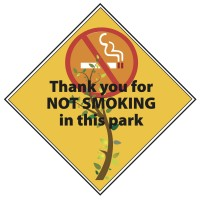 Thank You for Not Smoking in Park